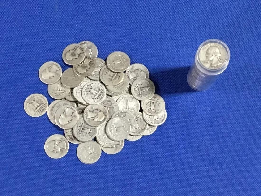 Lot of 100 Washington Quarters 90% Silver