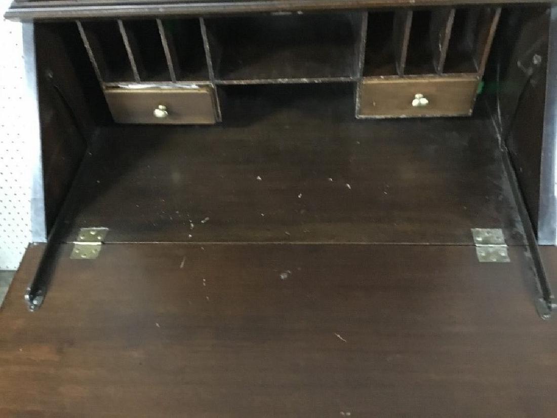 Solid Walnut Secretary Bookcase - 3
