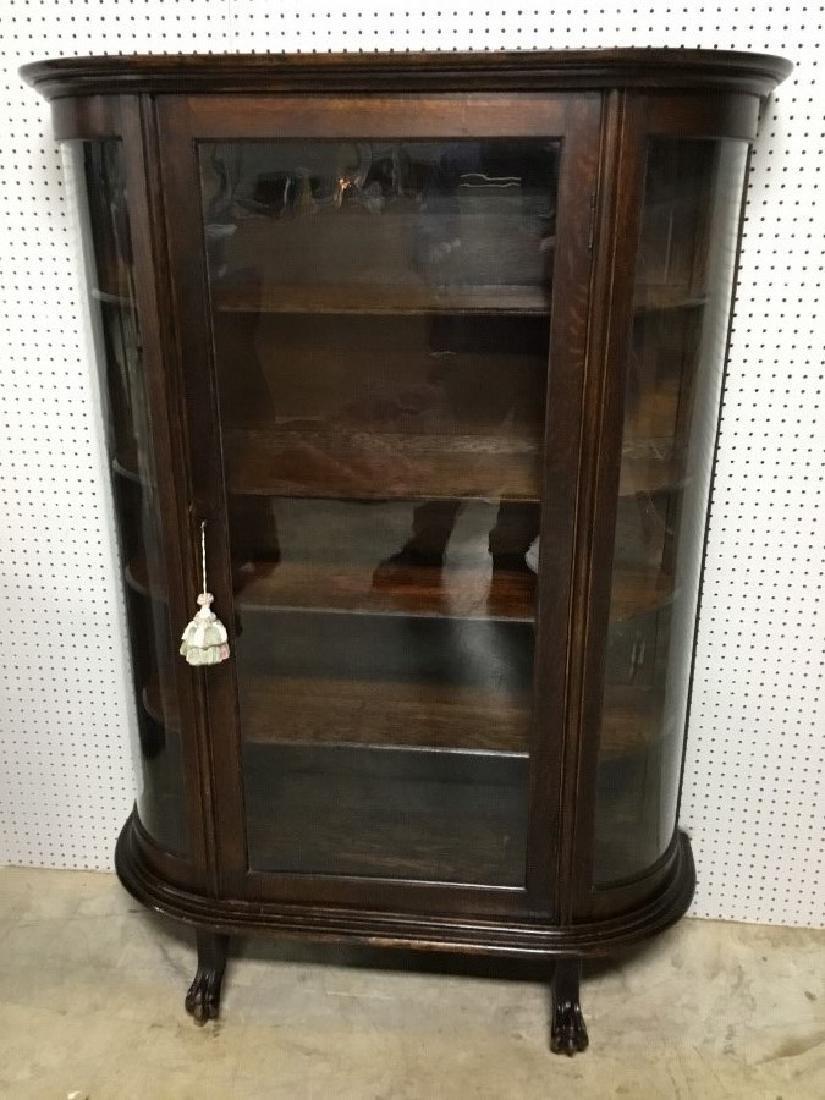 Oak Bow Glass China Cabinet