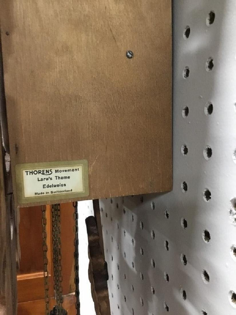 Hand Carved German Hunters Style Walnut Cuckoo Clock - 4