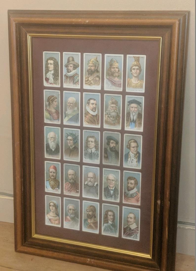 25 Leaders of Men Ogden's Cigarettes Trade Cards.