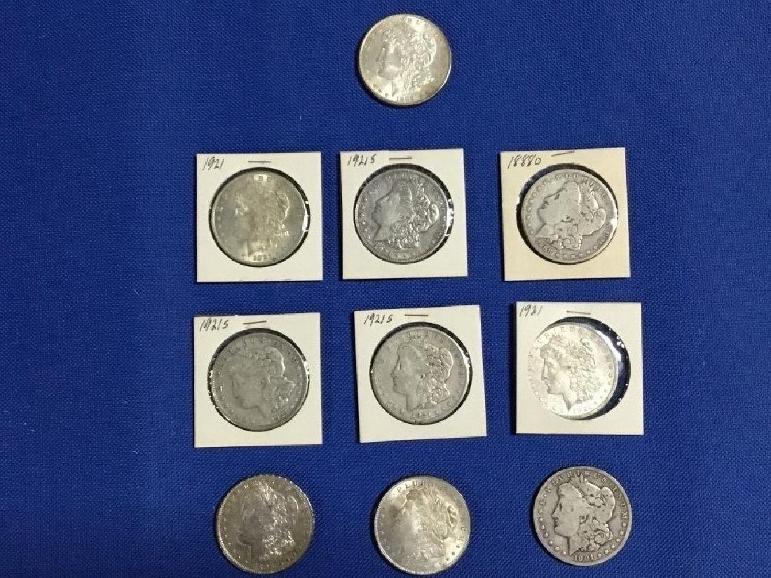 Lot of 10 Morgan Dollars