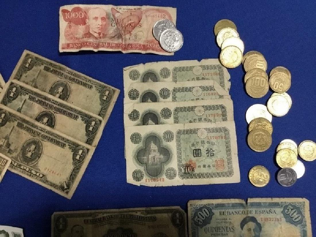 Lot of Foreign Currency and Coins - 2