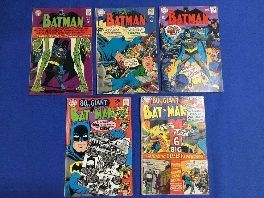 Batman Issues #182,195,198,199,201