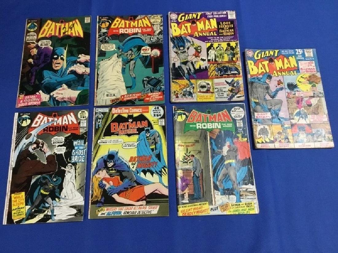 Lot of 7 Vintage Batman Comics