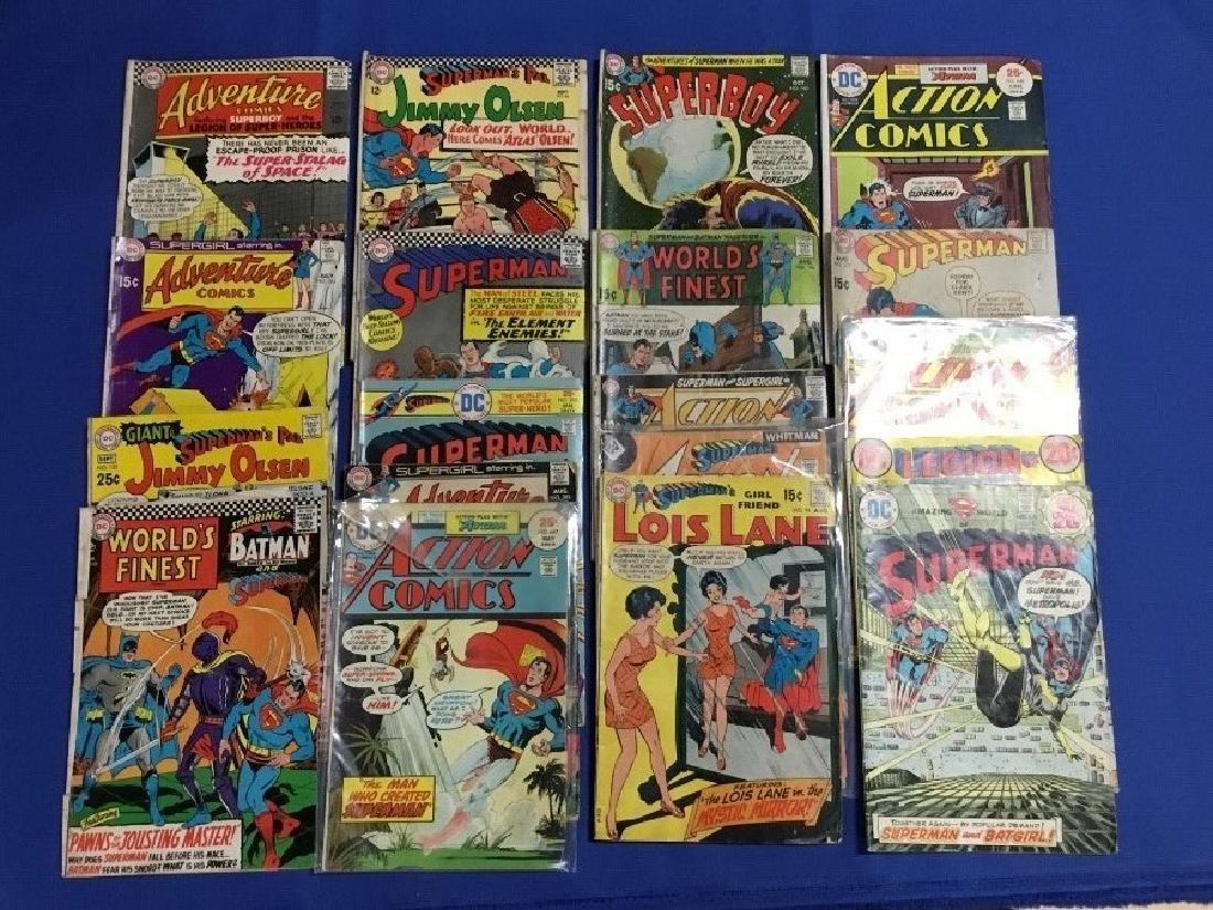 Lot of 19 Vintage Superman Comics, Action Comics and