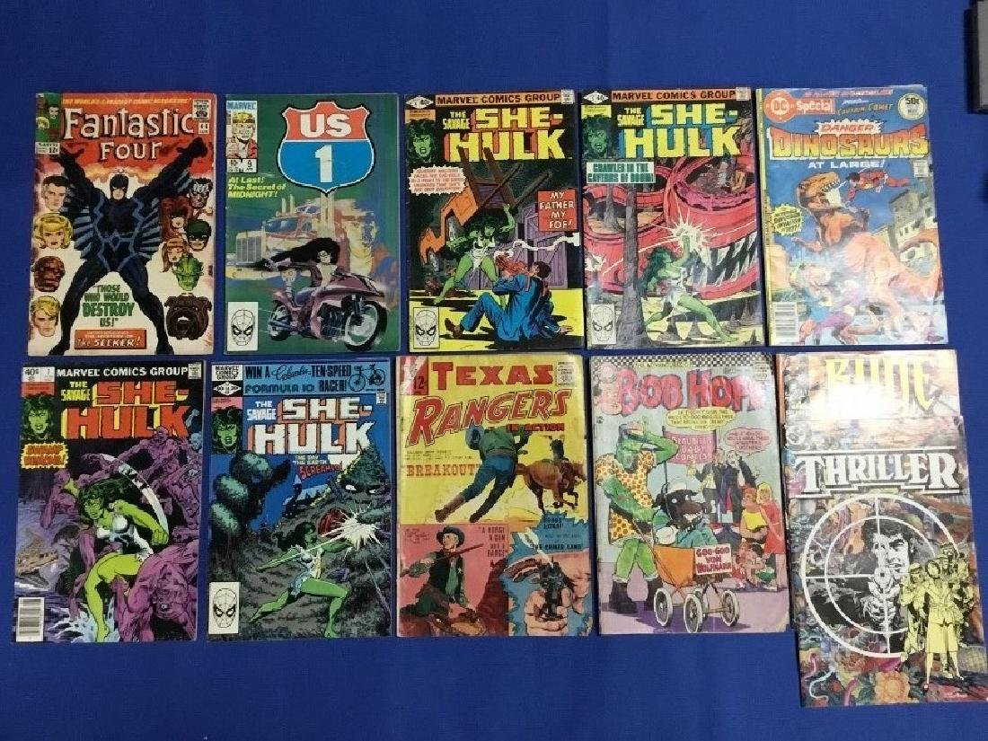 Lot of 11 Marvel and DC Comics, Fantastic Four, She