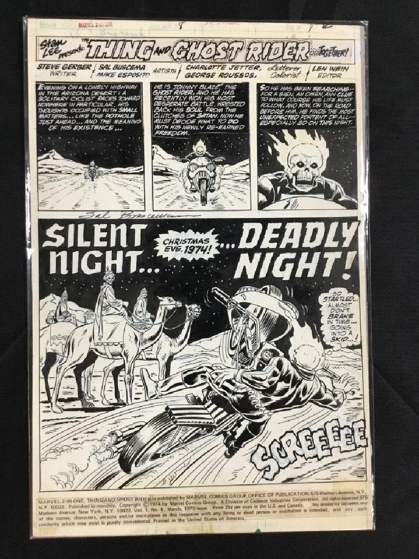 Rare Marvel Two in One Issue#1 Page 8 Original Comic