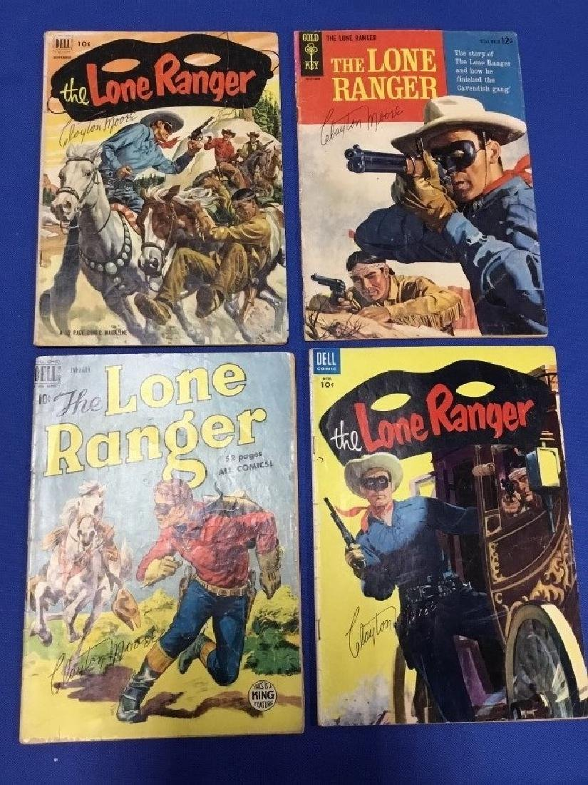 Lot of 4 The Lone Ranger Comics Autograph