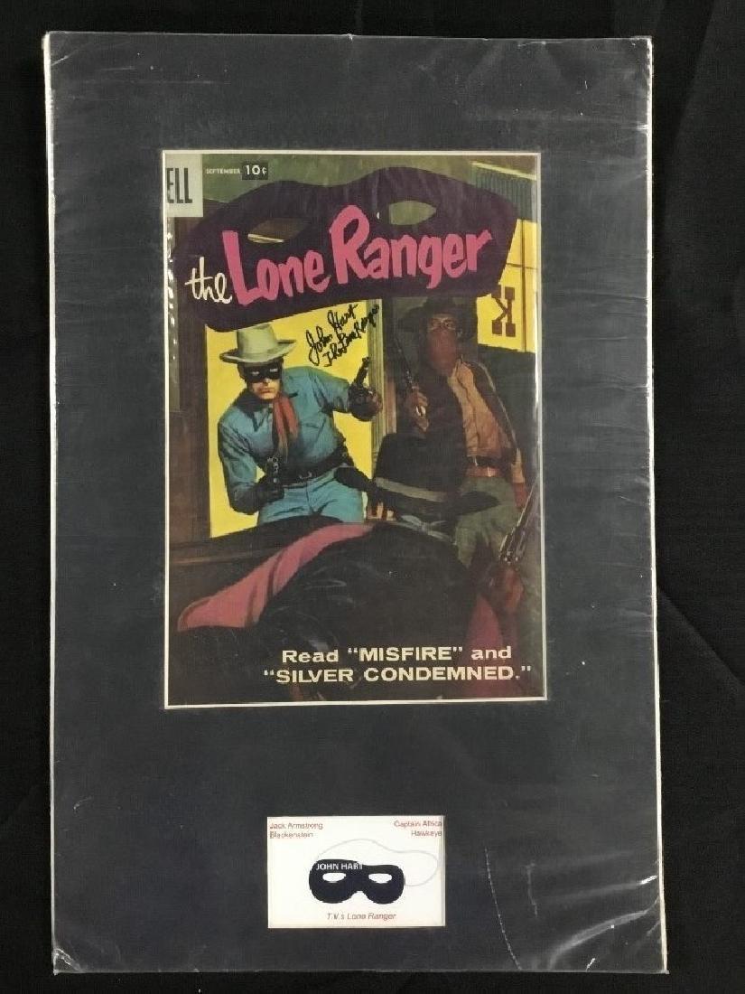The Lone Ranger Comic Print John Hart Autograph