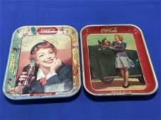 2 Original Coca-Cola Trays