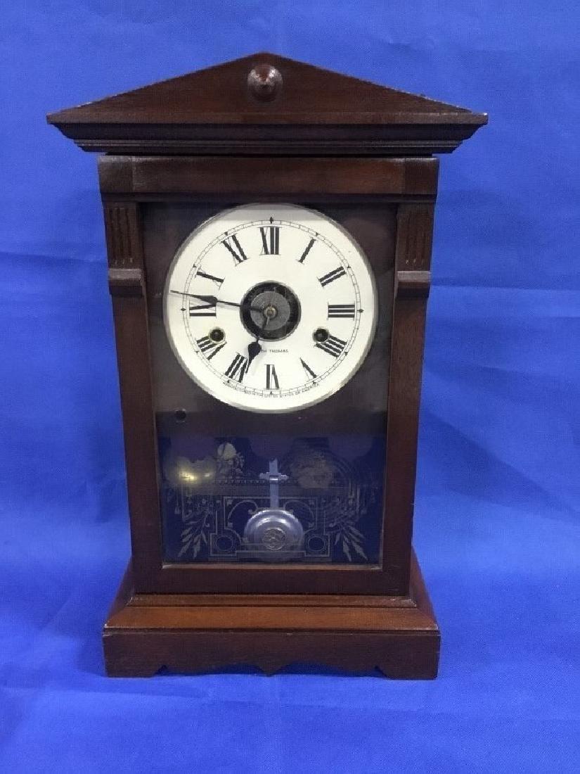 Seth Thomas Walnut Mantle Clock