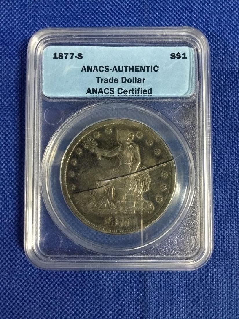 1887 Trade Dollar ANACS Certified Authentic