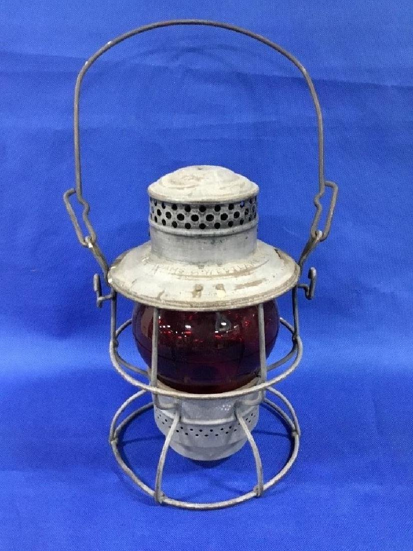 Adams and Westlake Co. Southern Red Globe R.R. Lantern