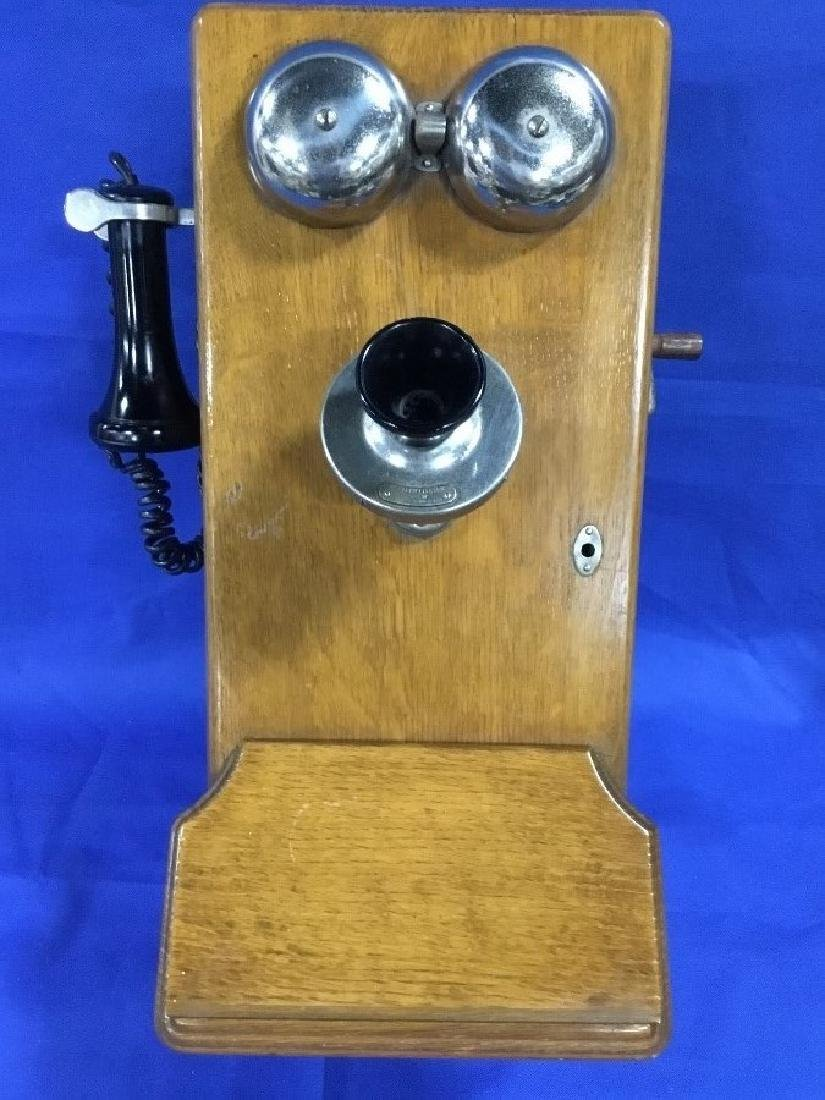 Western Electric Oak Crank Phone
