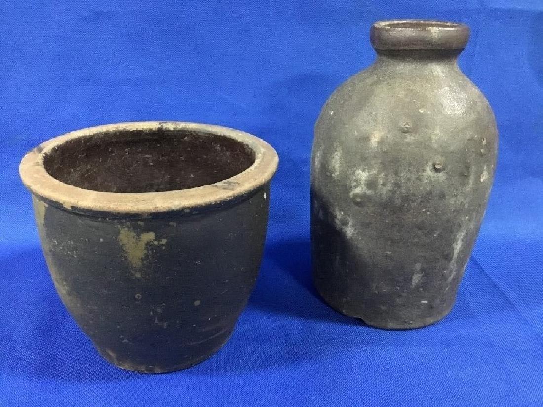 Stoneware Jug and Stoneware Crock