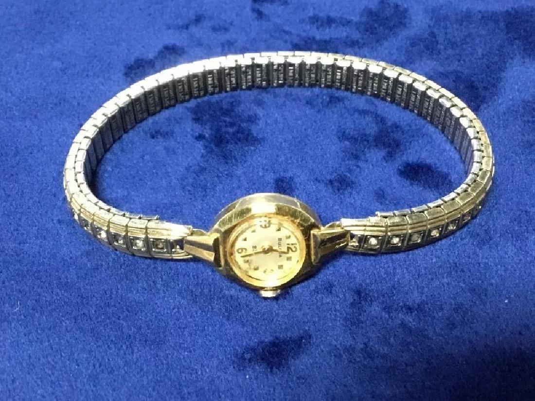18K Yellow Gold Ladies 23 Jewel Bulova Watch - 2