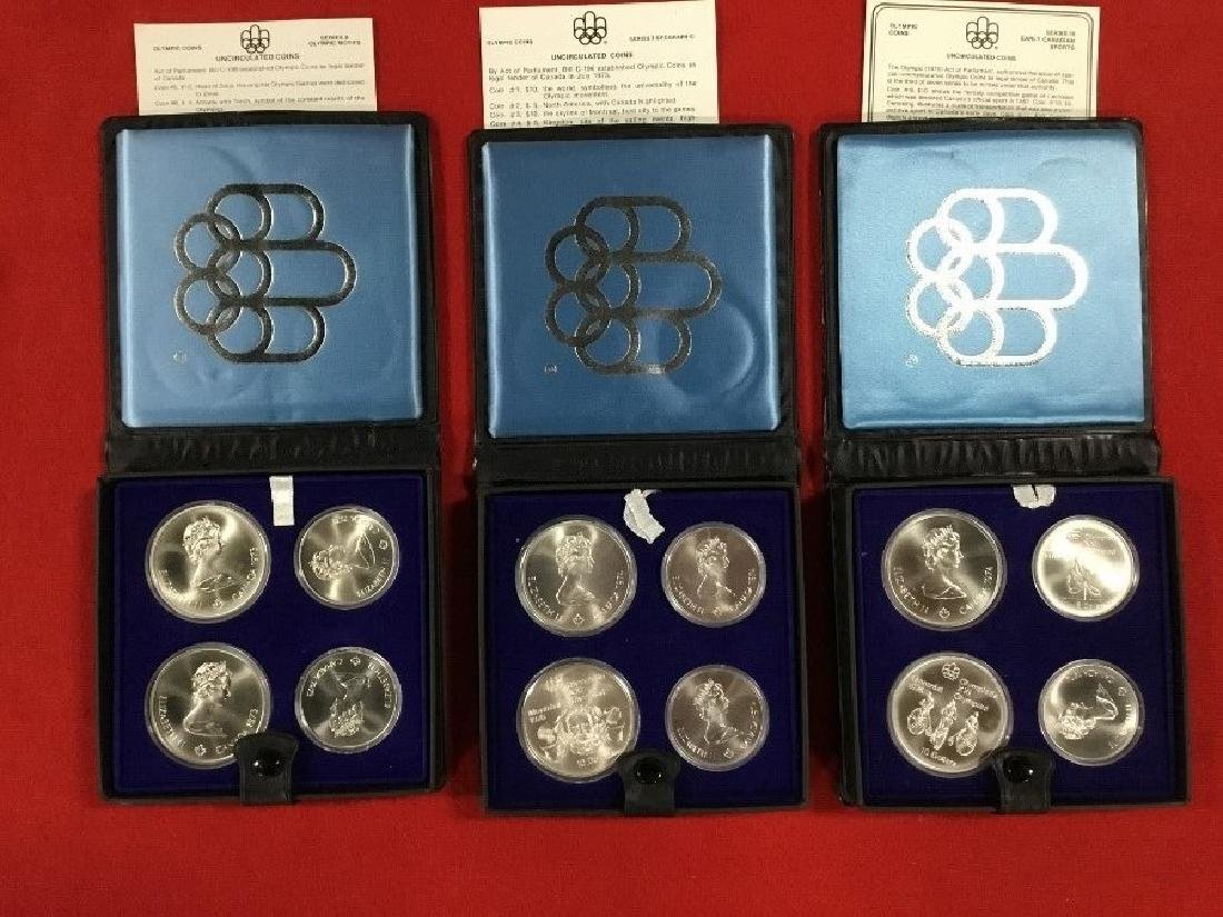 Lot of 12 1973 Olympic Coins .925 Silver Coins