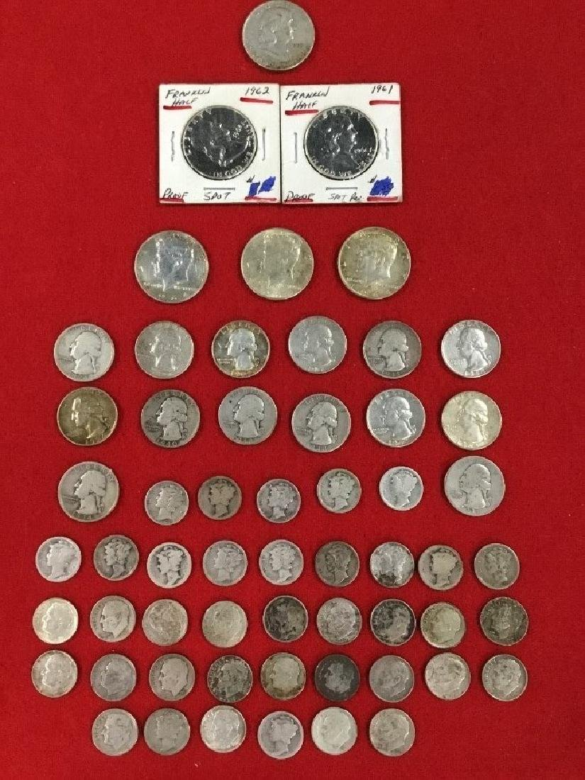 Lot of 58 90 Percent Silver Coins
