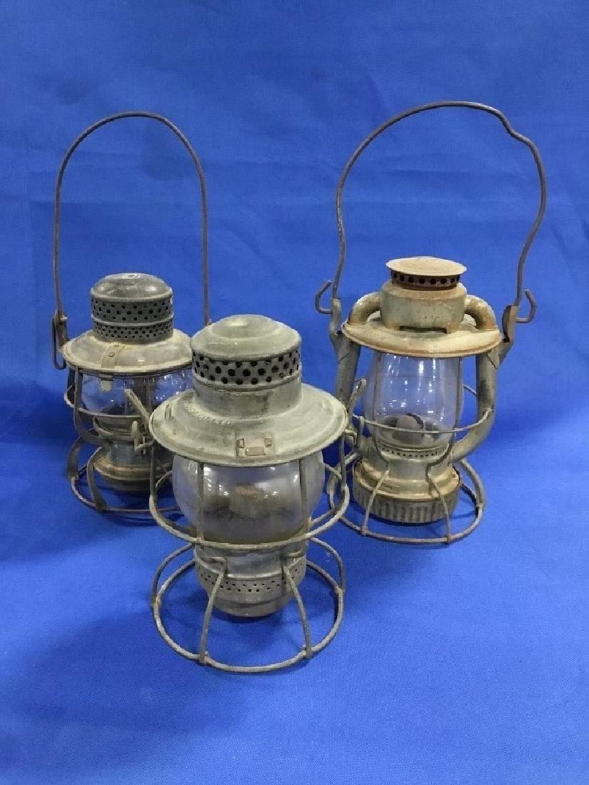 Lot of 3 Railroad Lanterns