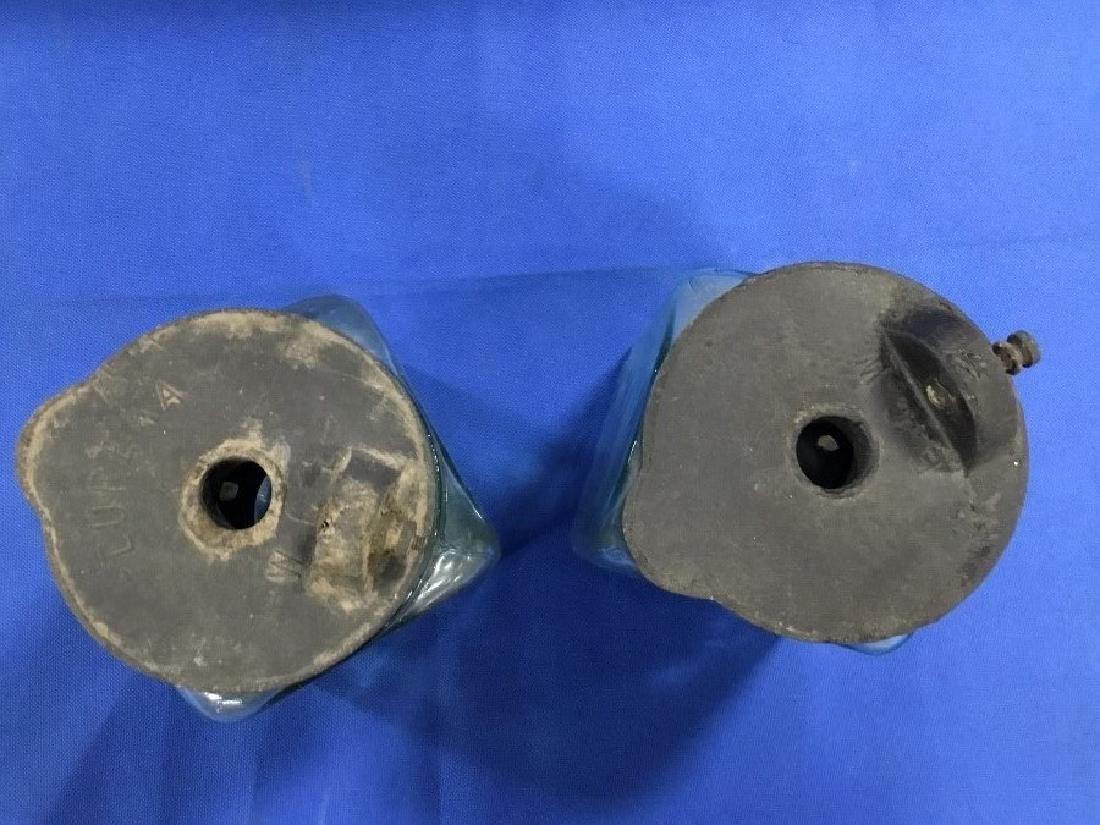 Pair of Vintage Aqua Glass Telegraph Batteries - 2