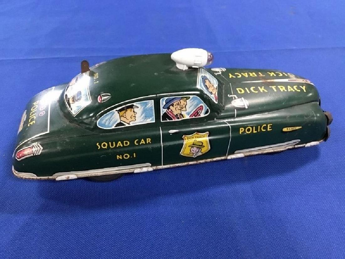 1950s Dick Tracey Tin Toy Car - 3