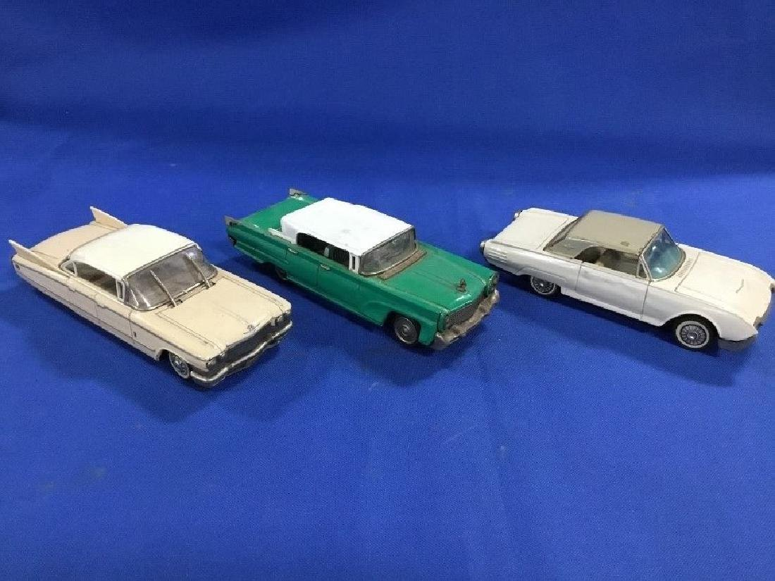 Lot of 3 Pressed Steel Friction Cars