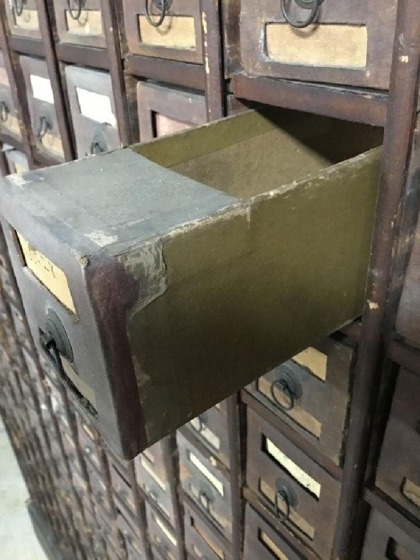 Antique Wooden Hardware Store Cabinet - 3