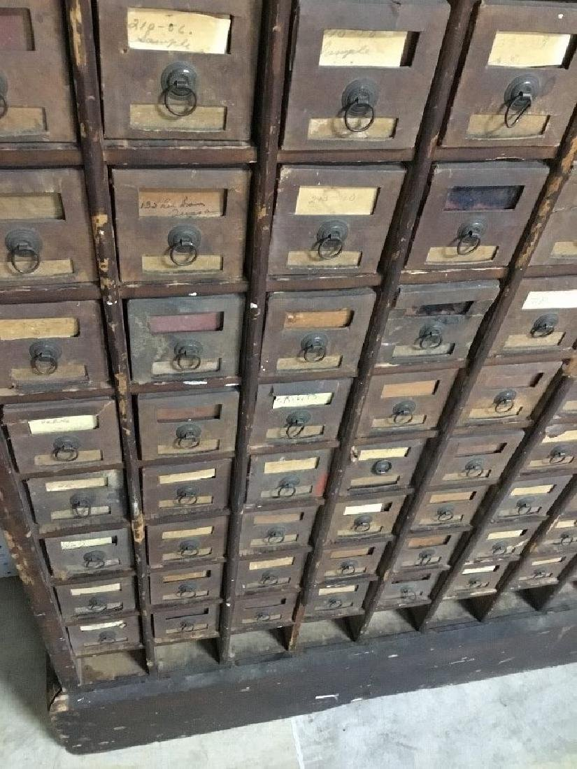 Antique Wooden Hardware Store Cabinet - 4