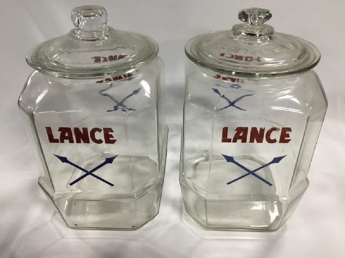 2 Original Lance Store Counter Jars