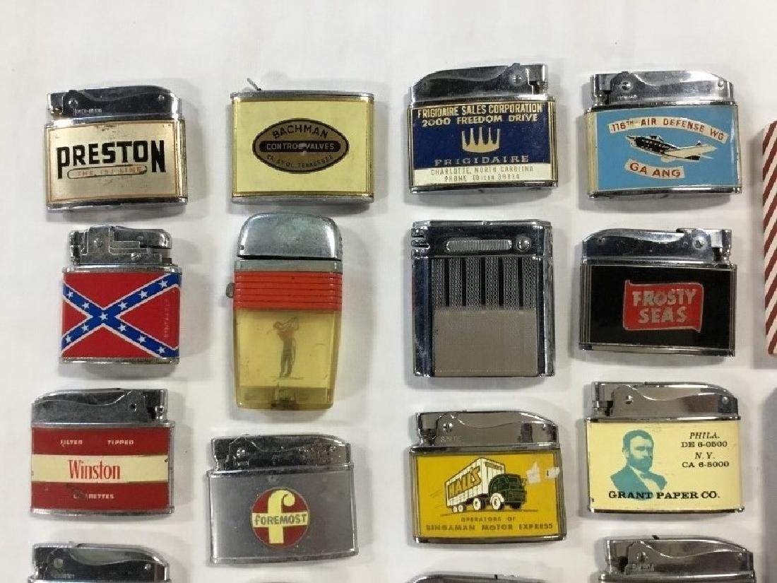 Lot of 50 Vintage Advertising Lighters - 2