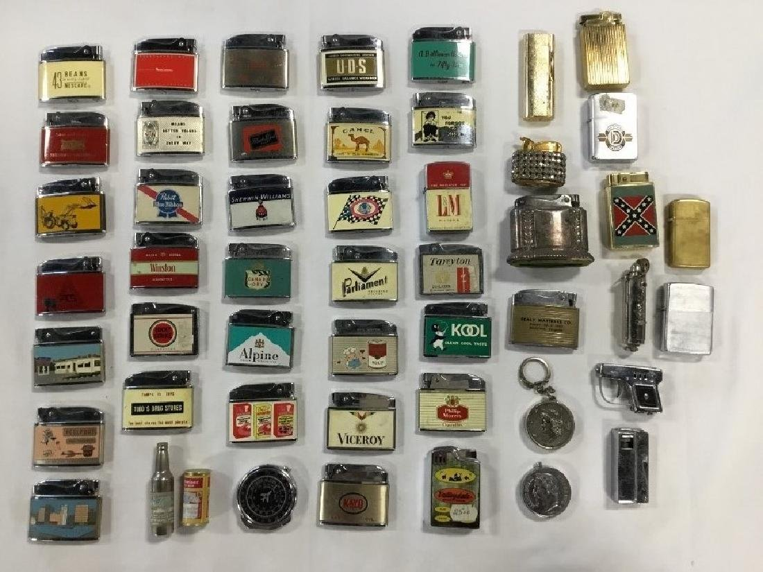 Lot of 50 Vintage Advertising Lighters