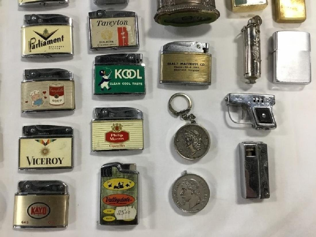 Lot of 50 Vintage Advertising Lighters - 4