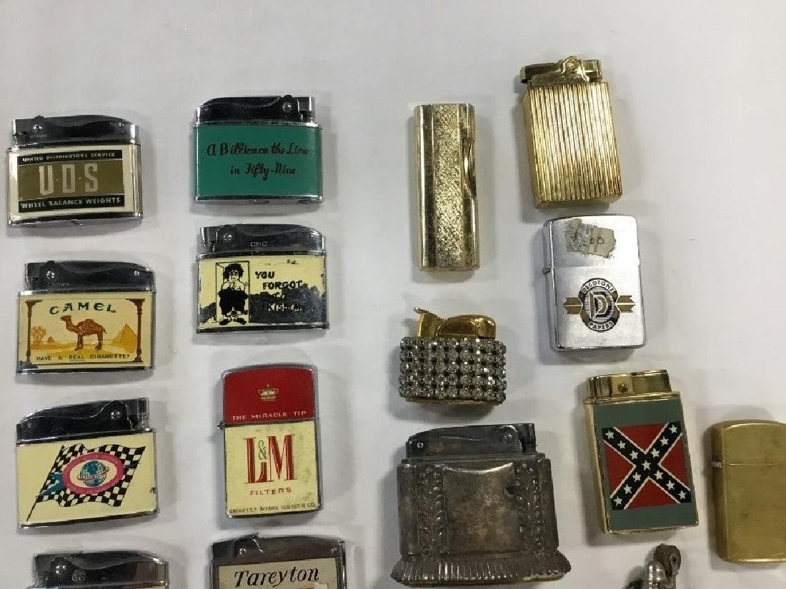 Lot of 50 Vintage Advertising Lighters - 5