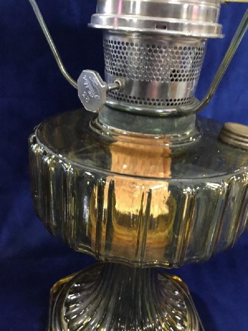 Amber Aladin Lamp with Chimney and Shade - 2