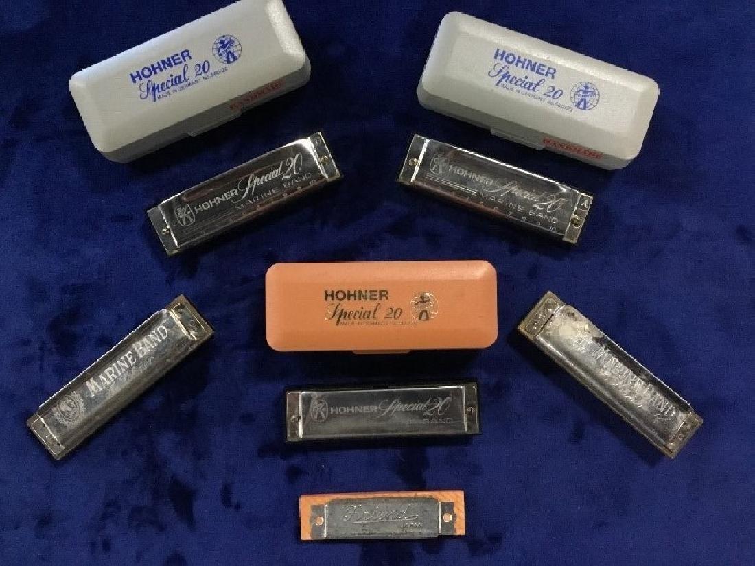 6 Hohner Harmonicas