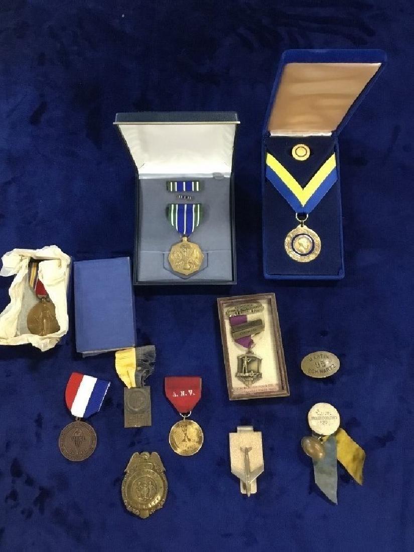 Lot of Vintage Awards, Medals, and Badges