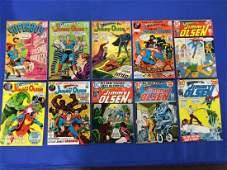 Lot of 10 Superman Superboy #153, Jimmy Olsen #114,
