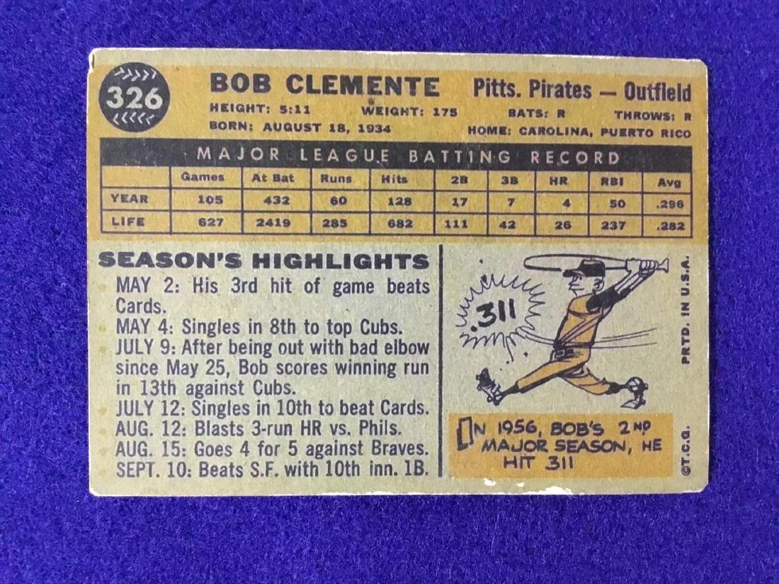 1960 Topps Roberto Clemente #326 - 2