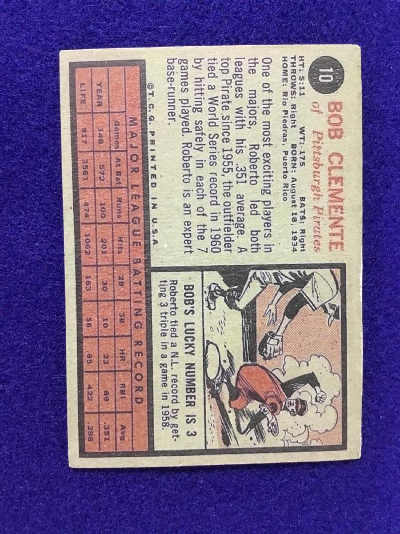 1962 Topps Roberto Clemente #10 - 2