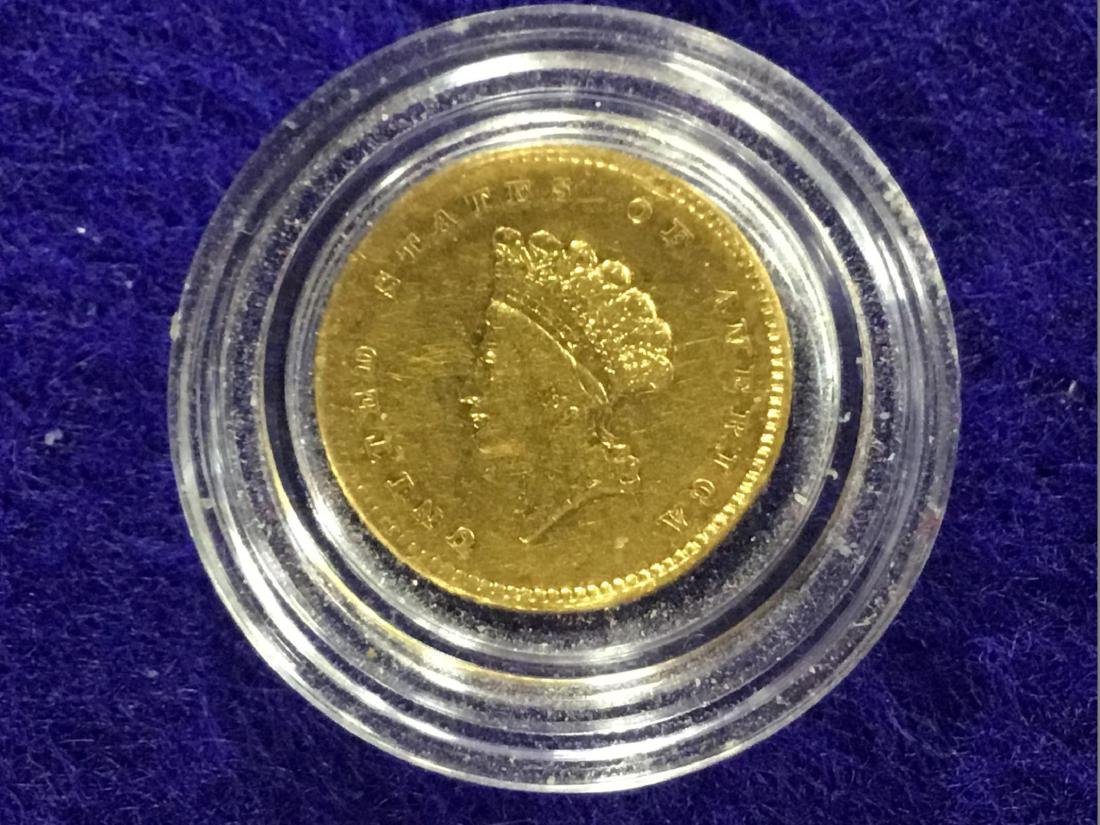 1854 $1 Indian Princess Head (Small Head) Type 2