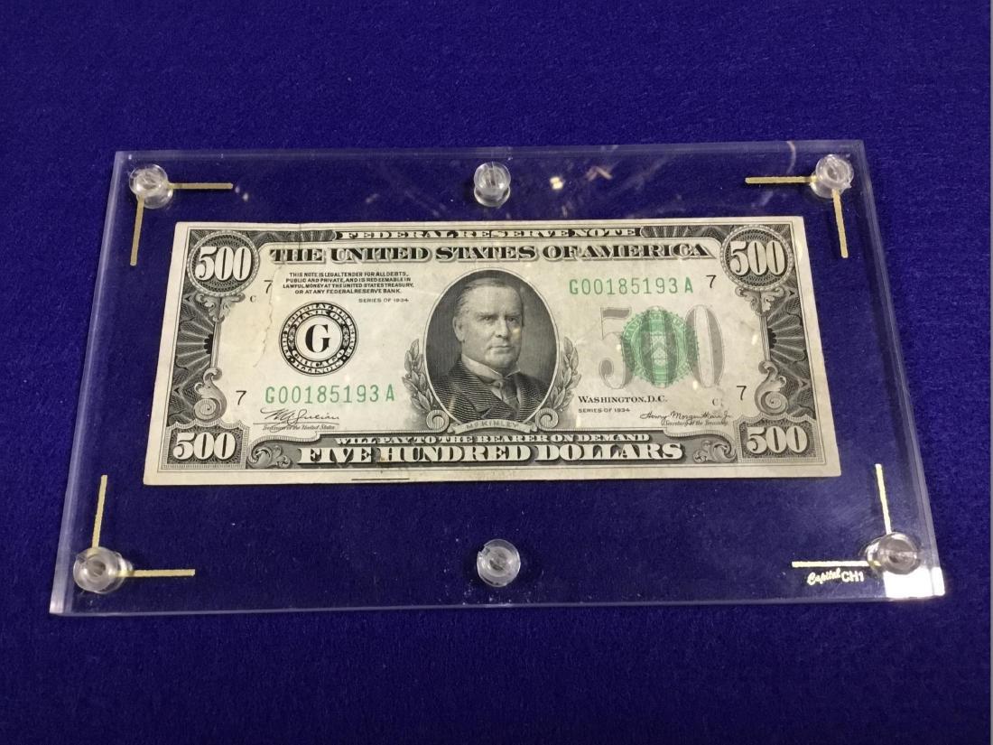 $500 US Bill SN G00185193A