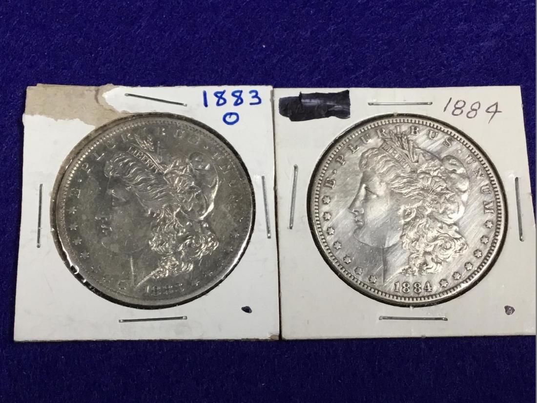 Lot of 2 Morgan Dollars