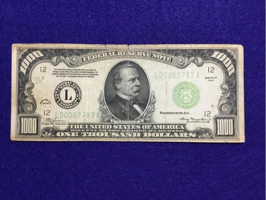 1934 San Francisco 1000 Dollar note
