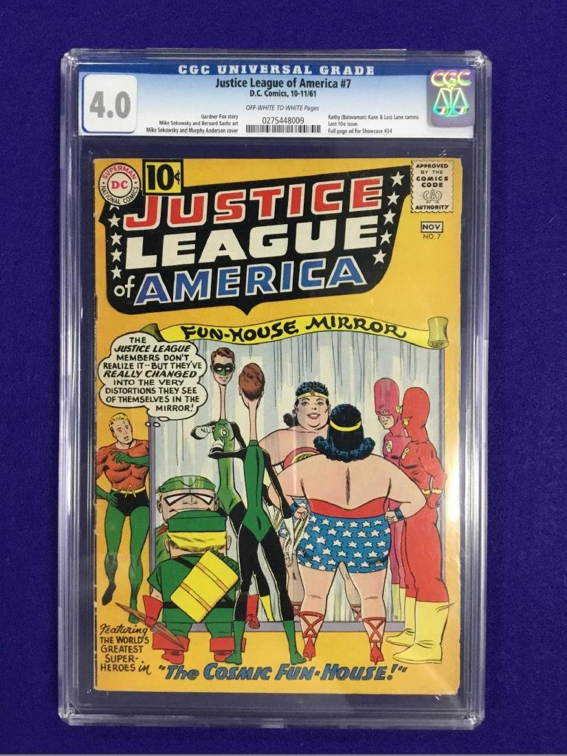 Justice League Of America number 7 CGC 4.0
