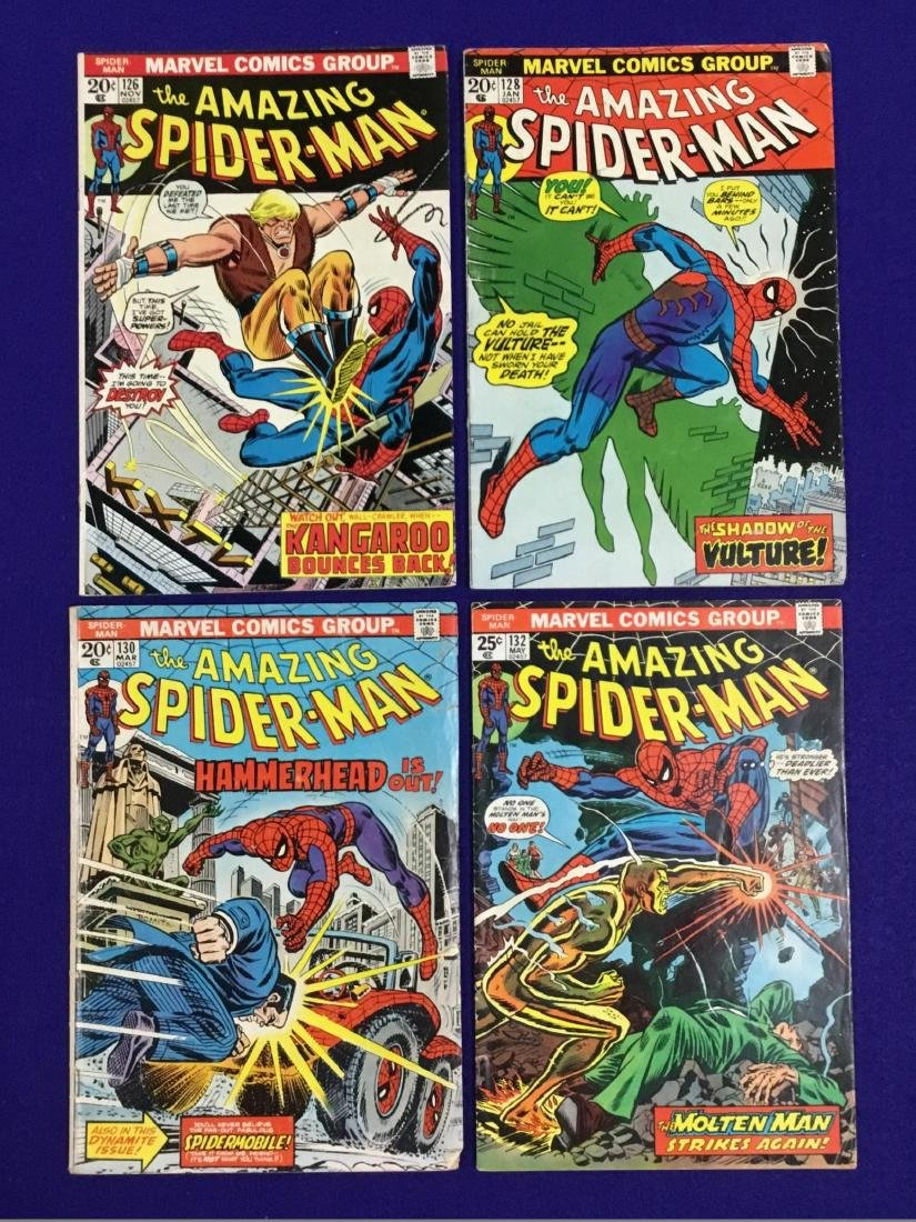 The Amazing Spiderman No. 126, 128, 130, 132