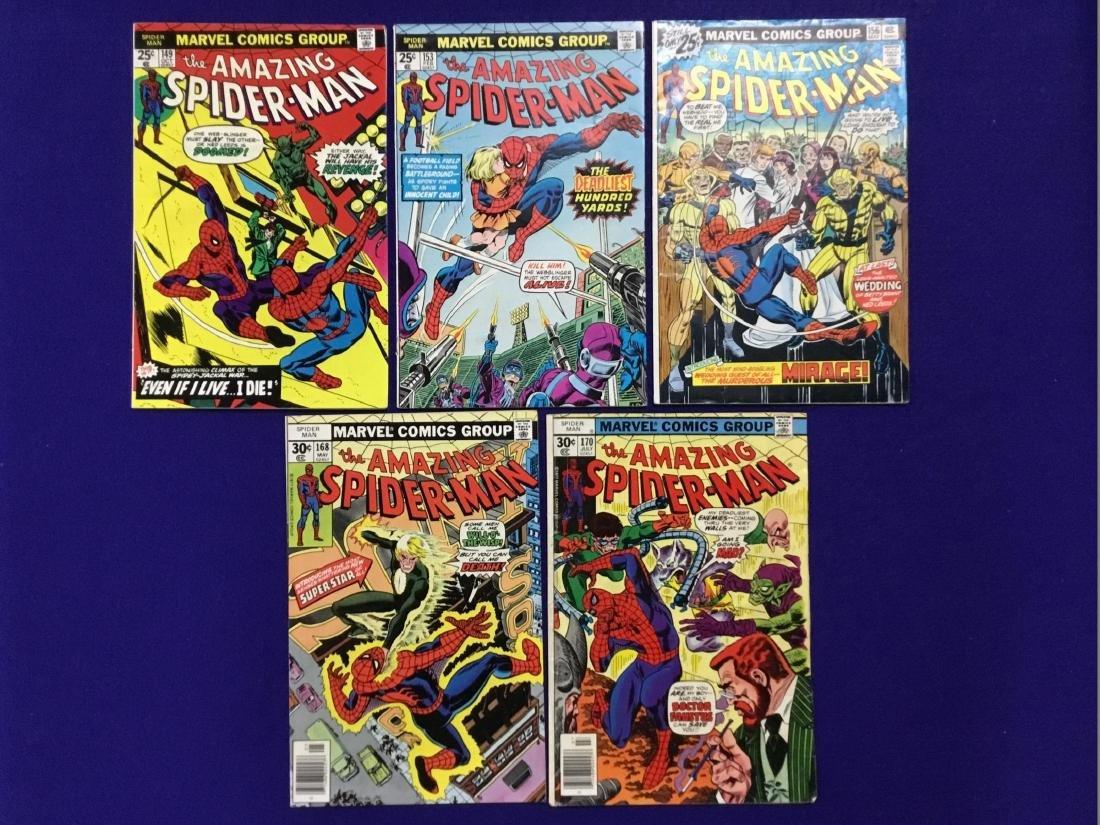 The Amazing Spiderman no. 149, 153, 156, 168, 170