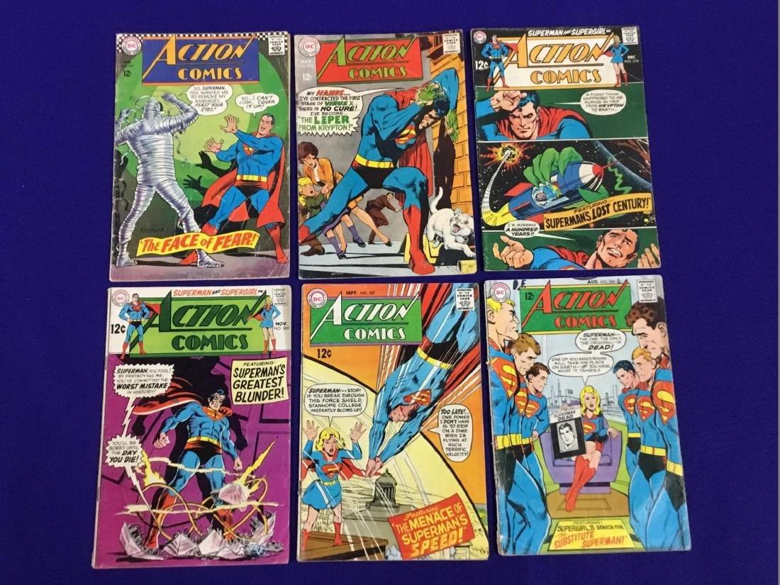 Action Comics No. 349, 363, 367, 366, 369, 370