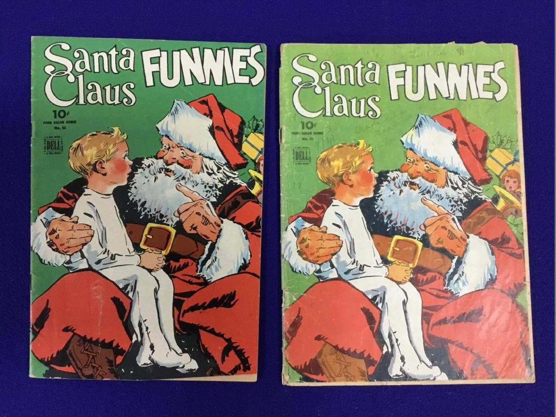 Dell Santa Claus Funnies 2 issues no. 61