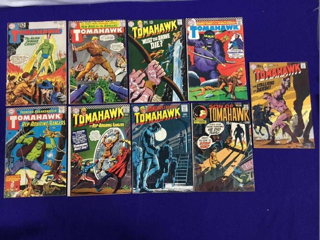 Lot of 9 TomaHawk Comics no.